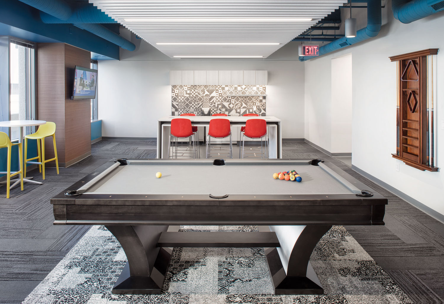 A completely reimagined tenant lounge