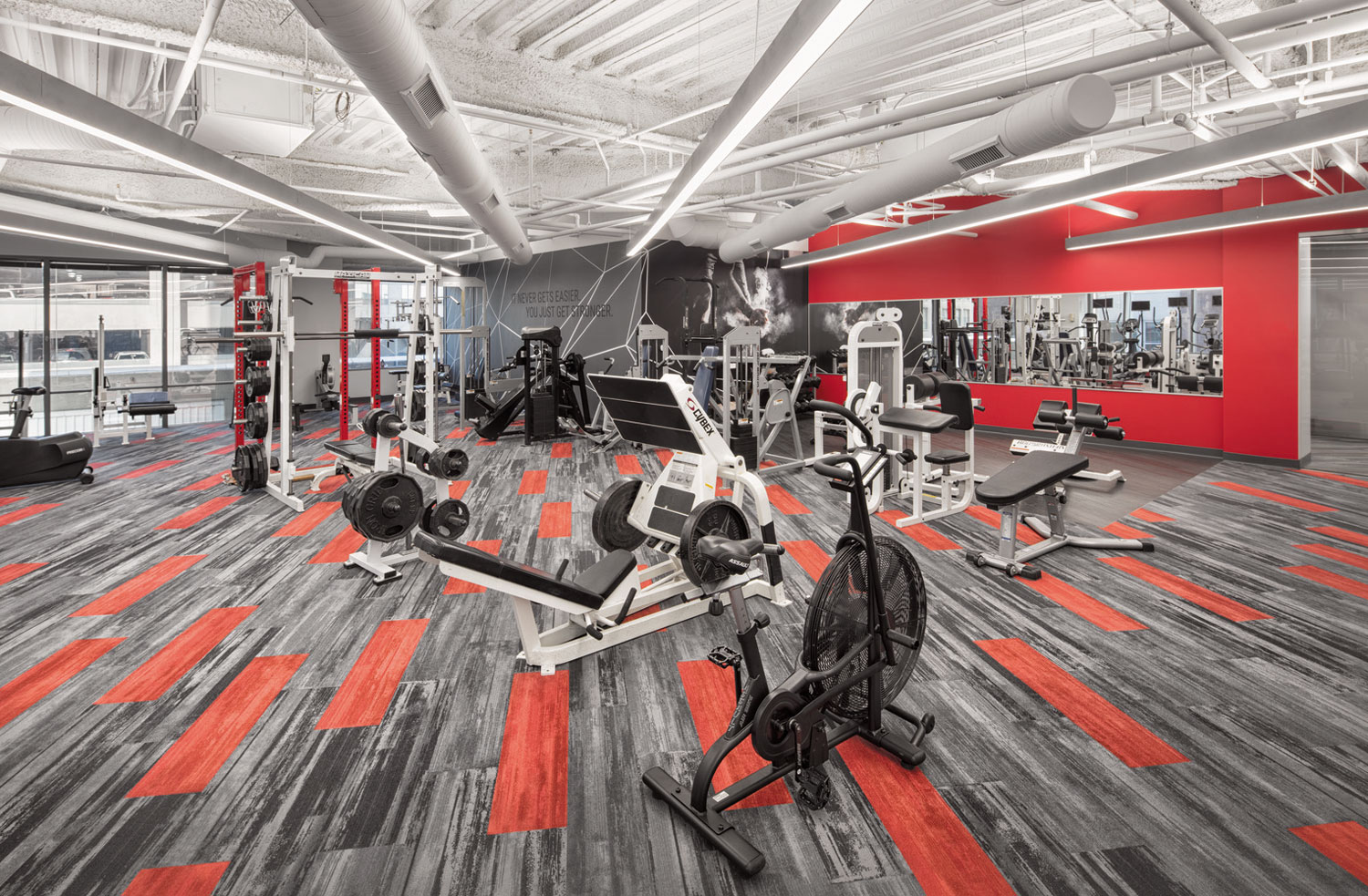 Get in a power work out in the newly expanded fitness center